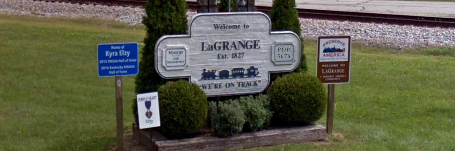 LaGrange, KY welcome sign